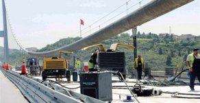 Maintenance on 15 Temmuz Sehitler Bridge and Fatih Sultan Mehmed Bridge
